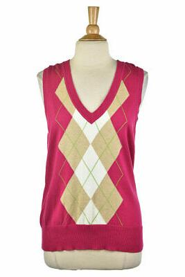 women sweaters vest xl pink cotton