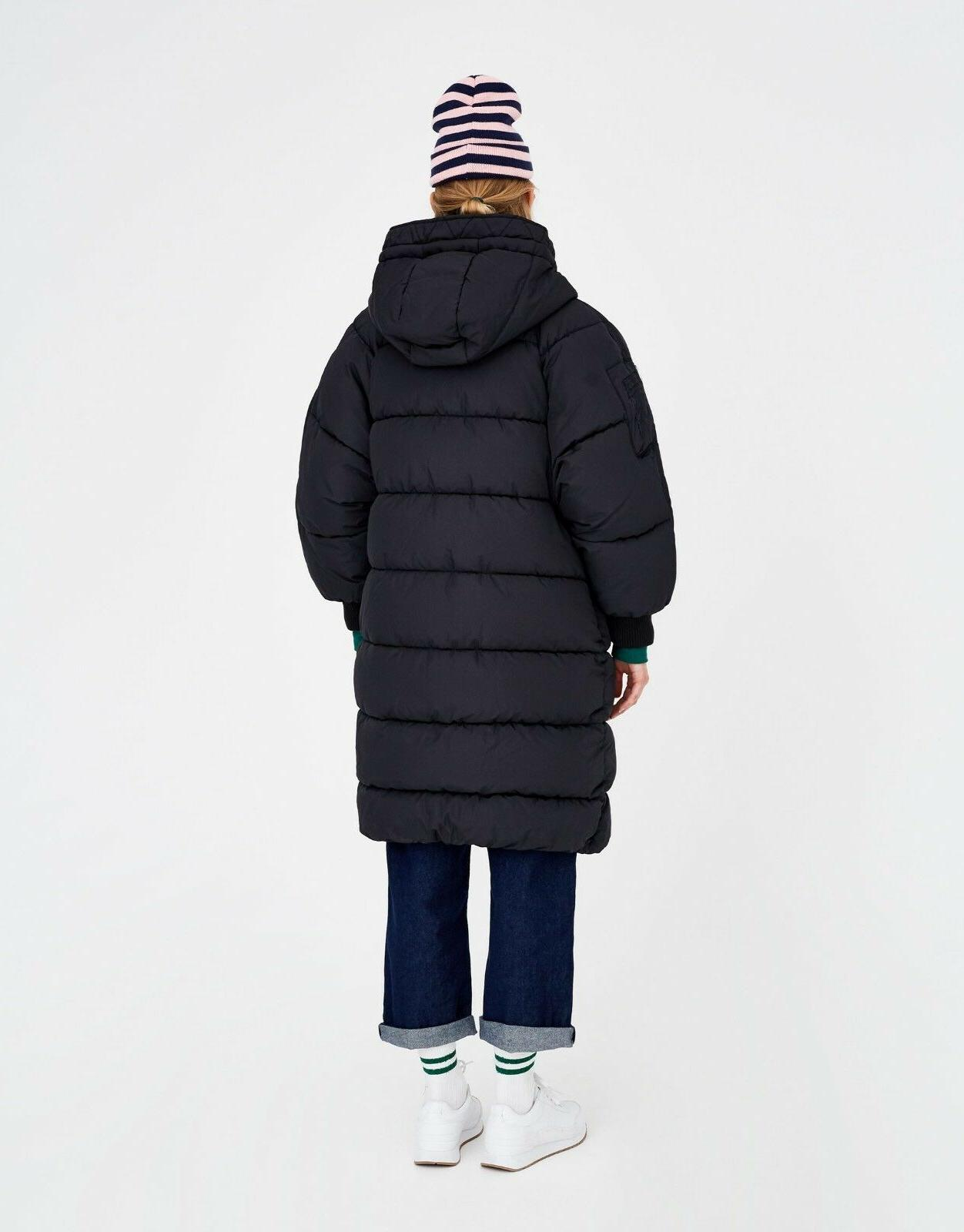 Roiii Winter Hood Size Long Parka Jacket