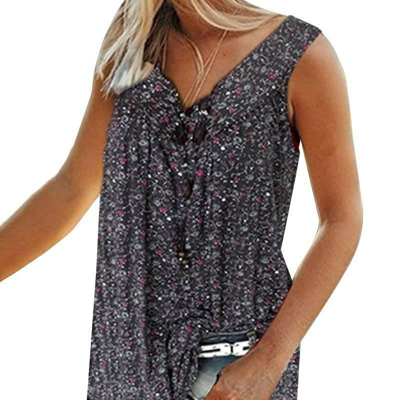 Womens Floral Sleeveless
