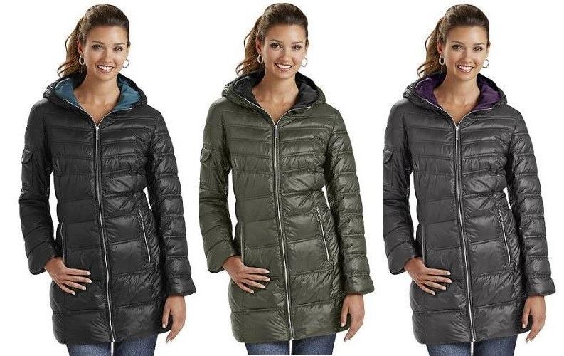 womens hooded down jacket puffer bubble coat