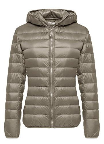 womens hooded packable ultra light weight down