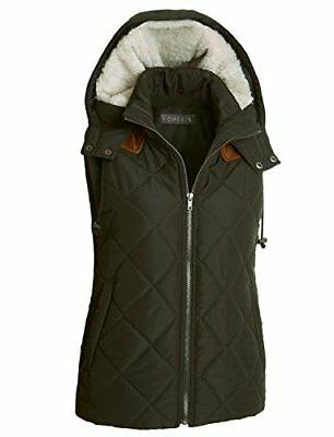 LE3NO Fully Lined Quilted Puffer Vest With