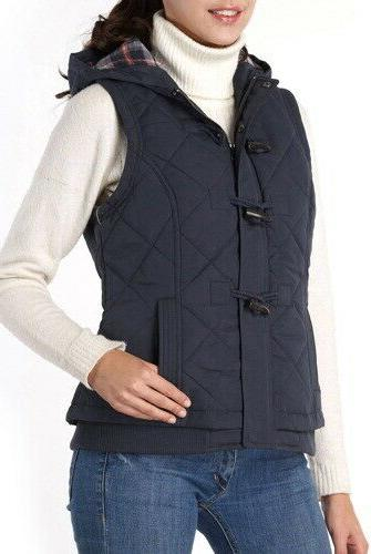 BGSD Womens Quilted Hooded Navy