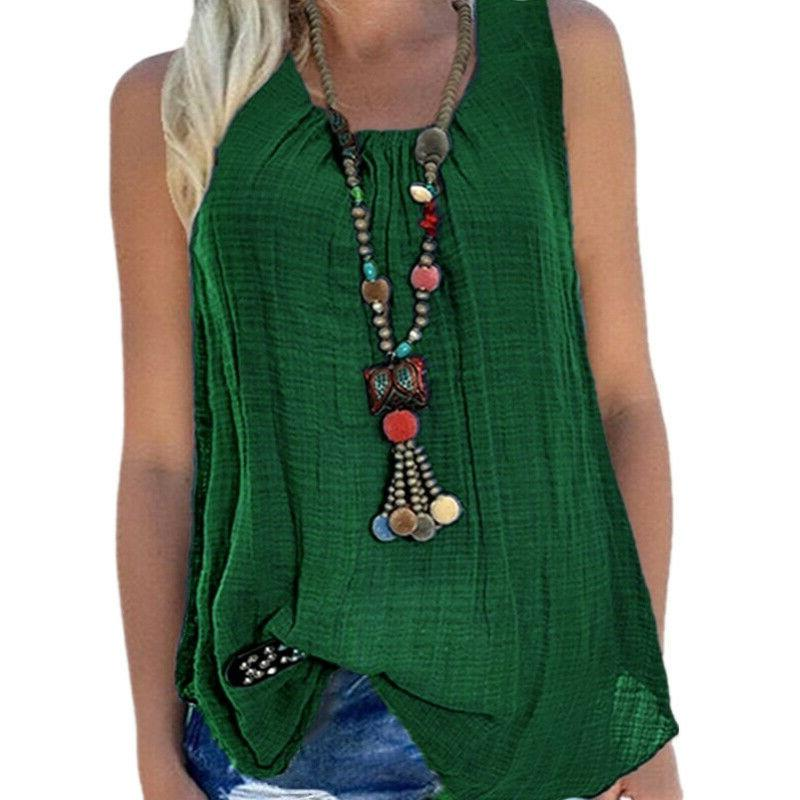 Plus Vest Tank T-shirts Summer Loose Blouse Tee
