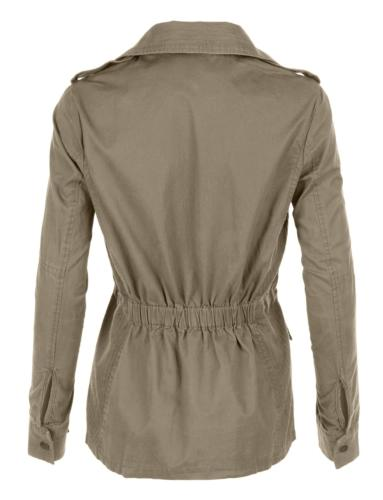 LE3NO Stand Safari Jacket with