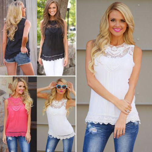 Women's Summer Casual Vest Top Sleeveless Shirts Blouse Ladies