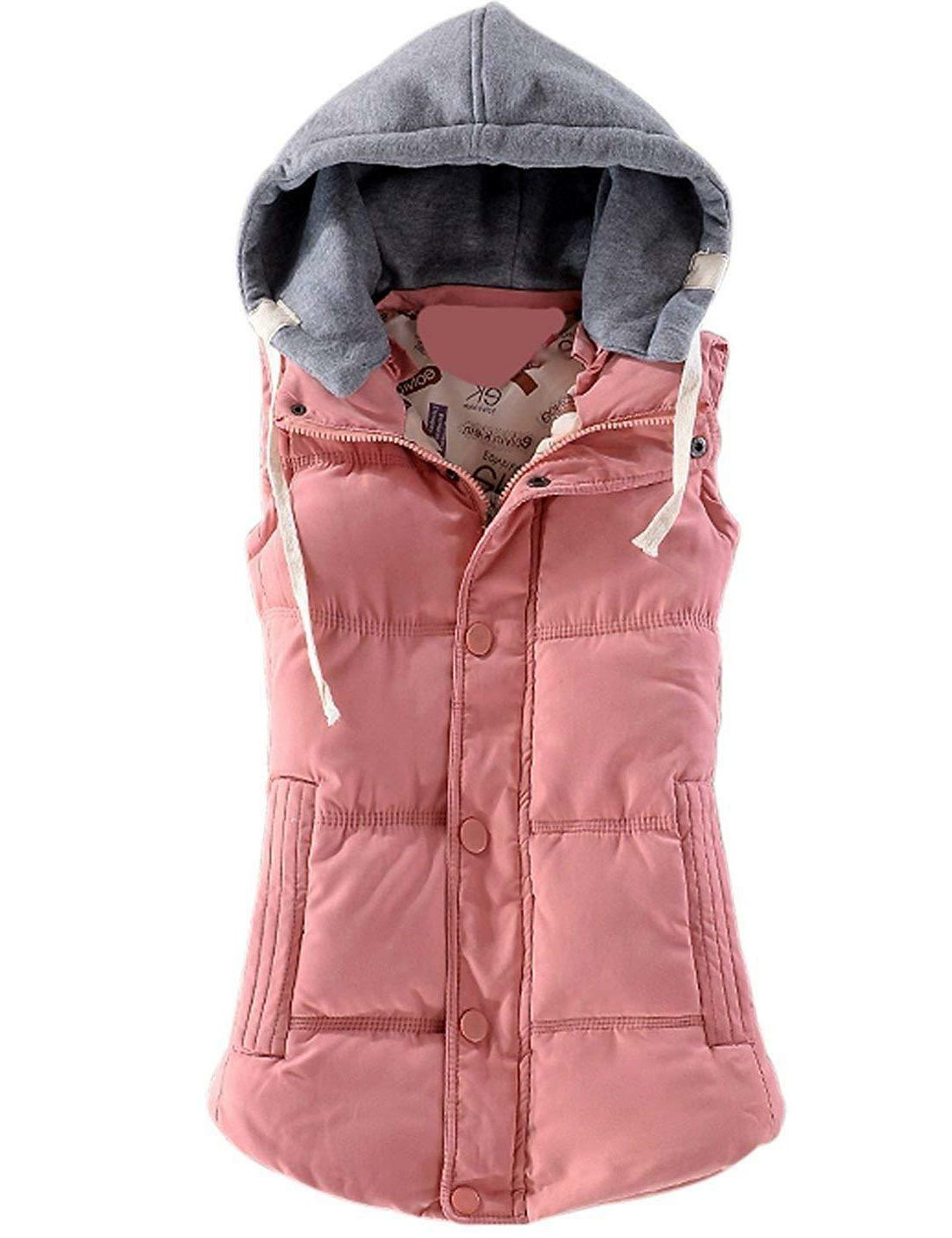 Yeokou Women's Quilted Removable Puffer Vest