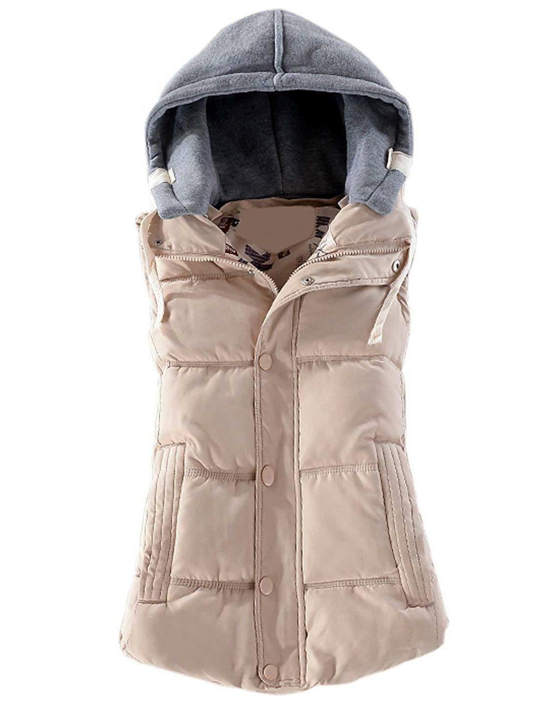 Yeokou Women's Slim Quilted Removable Puffer