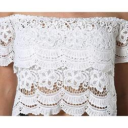 Women Lace Crochet Vest, MisakyTank Top Casual Sleeveless Bl
