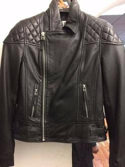 Ladies Casual Fashion Leather Black Jacket STYLE 4229/ CLEAR