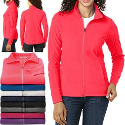 Ladies Plus Size Micro Fleece Jacket Full Zip with Pockets W