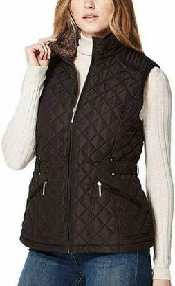Weatherproof Ladies' Ultra Soft Cozy Lining Quilted Vest NWT
