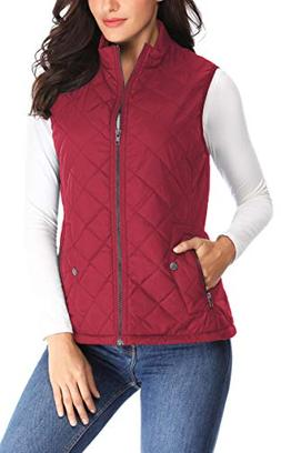 lightweight quilted padded vest stand