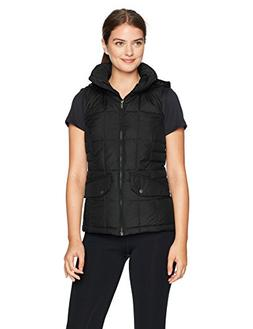 Columbia Women's Lone Creek Hooded Vest, Black, Large