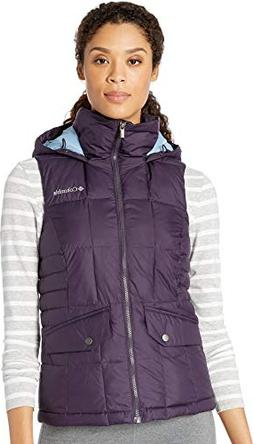 Columbia Women's Lone Creek Hooded Vest, Dark Plum, X-Large