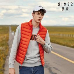 SEMIR Men Packable Puffer Vest with Stand-<font><b>up</b></f