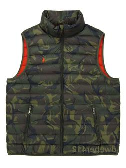Men Polo Ralph Lauren BIG TALL Camo Camouflage Quilted Down