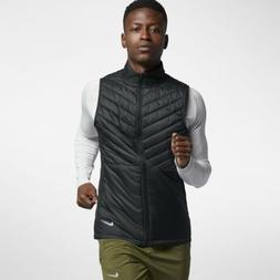 Men's Nike AeroLayer Running Vest Black Atmosphere Grey Size