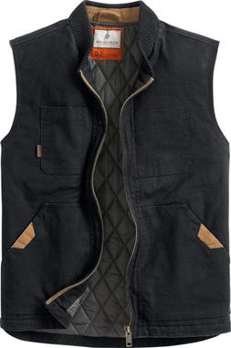 Legendary Whitetails Men's Canvas Cross Trail Vest Black X-L