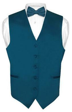 Men's Dress Vest BOWTie Hanky BLUE SAPPHIRE Color Bow Tie Se