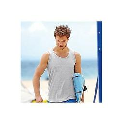 Men's FITTED FRUIT OF THE LOOM VESTS COTTON Size S-2XL