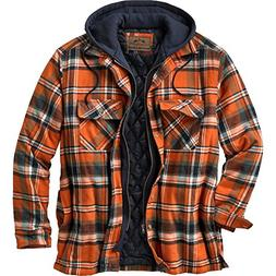 Legendary Whitetails Men's Maplewood Hooded Shirt Jacket X-L