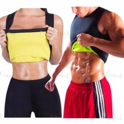 Men's Neoprene Slimming Vest Cami Hot Gym Shapers Women Body