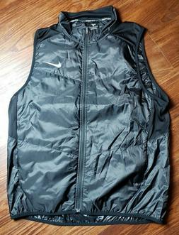 Nike Men's Polyfill Running Vest 922457-010 Black Size Large