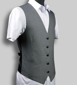 Men's Slim Fit Vests Single-breasted Solid Suit British Styl