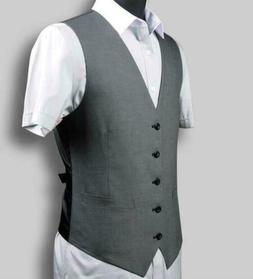 Men's Slim Fit Vests Single-breasted Solid Suit Casual Forma