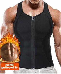 Men's Sweat Vest Body Shaper Zipper Slimming Sauna Tank Top