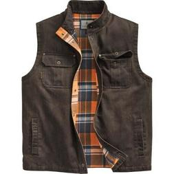 Legendary Whitetails Men's Trekker Vest Jacket XLT Brown Fla