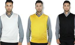 men s v neck classic solid sweater