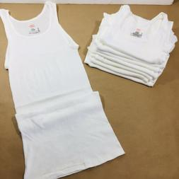 Hanes Men's White Tank Top A Shirt 8 Pack Size Small Ribbed
