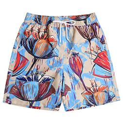 Simayixx Men Shorts Plus Size, Men's Beach Swimming Trunks B