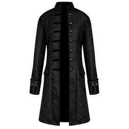 men steampunk vintage jacket halloween costume retro