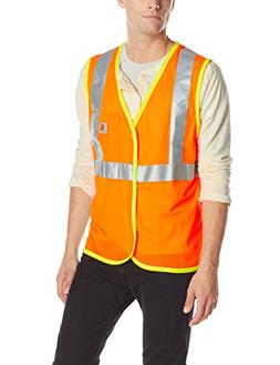 Carhartt Men's High Visibility Class 2 Vest,Brite Orange,Lar