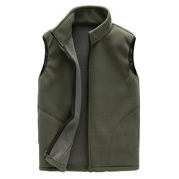 Men Warm Zip Casual Fleece <font><b>Vest</b></font> Spring M