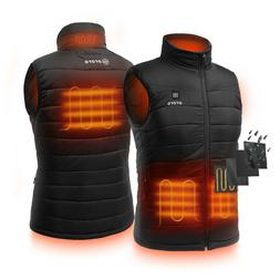 ORORO Men Windbreaker Heated Vest Water Resistant Quilted Sl