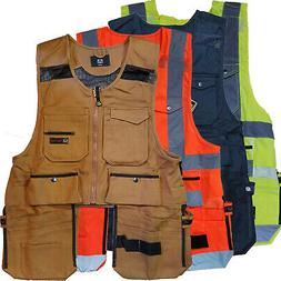 men work vest pockets utility vest tool
