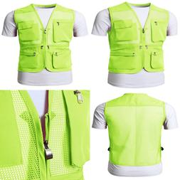 Mens Active Work Utility Hunting Travels Sports Mesh Vest W