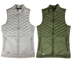 Nike Mens AeroLayer Thermore Insulated Running Vest Green/Wh
