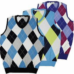 McIlhenny Dry Goods Mens Argyle Sweater Vest MM776 - Pick Si