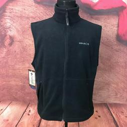 Columbia Mens Black Fleece Vest Size Large