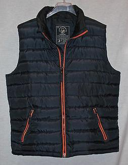 EASY PREMIUM CLOTHING ARCHIVE MENS BLACK QUILTED INSULATED V