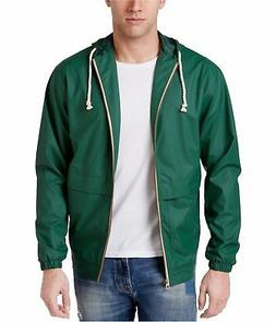 Weatherproof Mens Full Zip Windbreaker Jacket, Green, Small