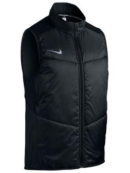 Nike Mens Light Weight Polyfill Full Zip Running Vest Black