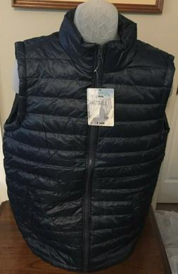 Jackson Hole Mens Navy Quilted Puffer Vest Size M, L, XL or