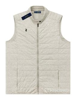 Mens Polo Ralph Lauren BIG TALL Quilted Jersey Vest Gray Moc