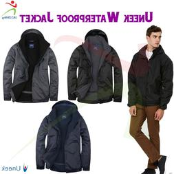 Uneek Mens Premium Outdoor Waterproof Windproof Coat Fleece